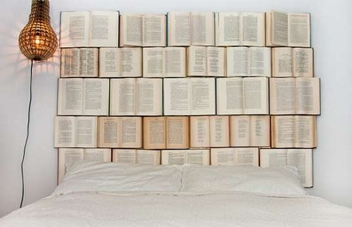 Book Headboard DIY Room Decor