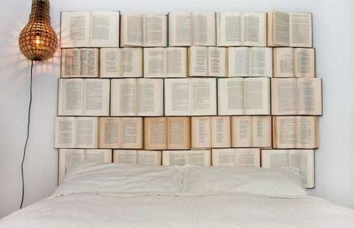 Book Headboard DIY Room Decor
