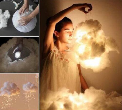 Cotton Lanterns DIY Room Decor