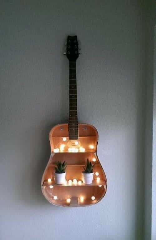 Guitar Wall Organizer DIY Room Decor