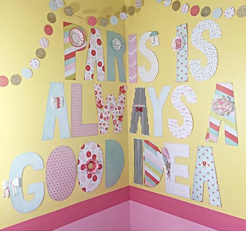 Hand-cut Letters DIY Room Decor
