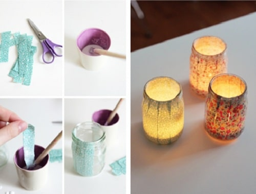 Jar Candle Holder DIY Room Decor