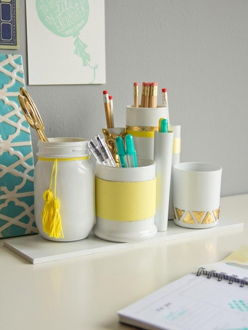 Jar Penholder DIY Room Decor