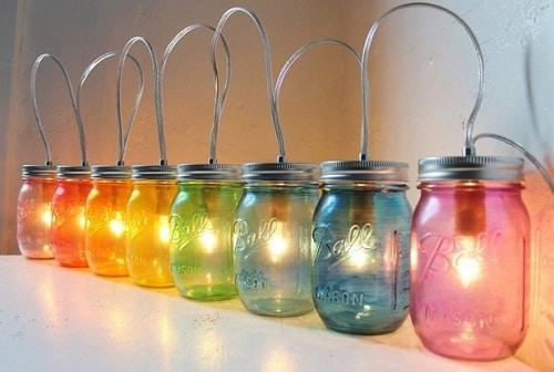 Mason Jars DIY Room Decor
