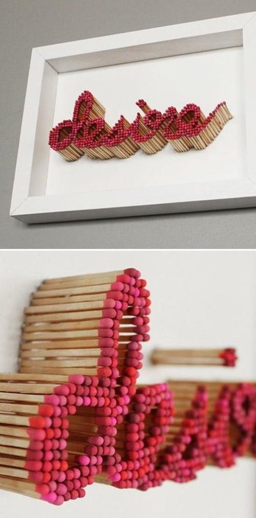Matchsticks DIY Room Decor