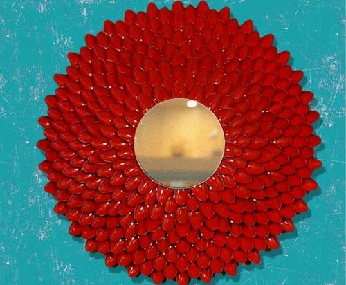 Mirror with Spoons DIY Room Decor