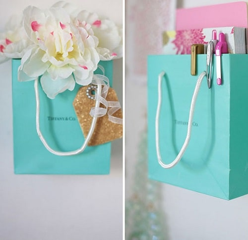 Paper Bag Organizer DIY Room Decor