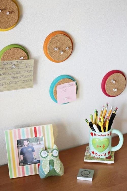 Round Corkboards DIY Room Decor