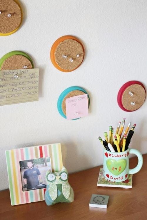 Round Corkboards DIY Room Decor