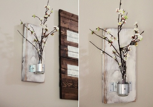 wall bottle vase diy room decor - Diy Room Decor Ideas