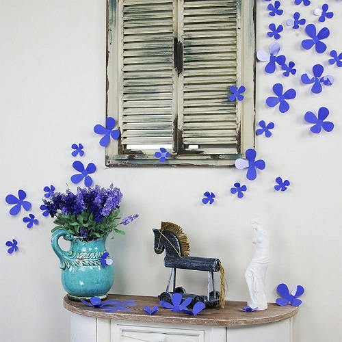 Beautiful Wall Flowers DIY Room Decor