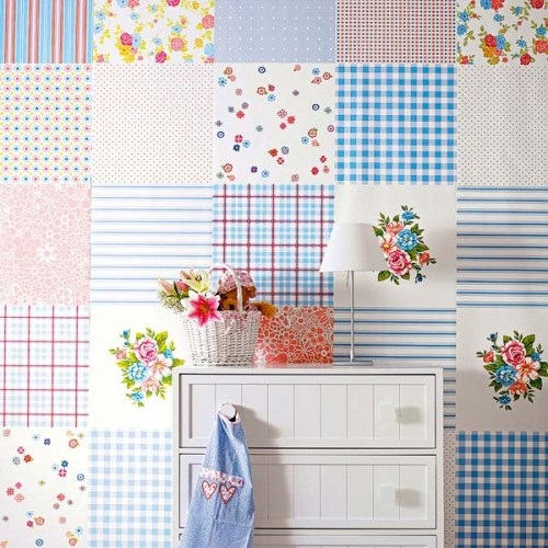 Baby Blue Patchwork