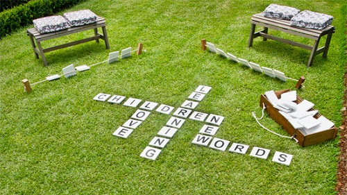 Backyard Word Game DIY Ideas