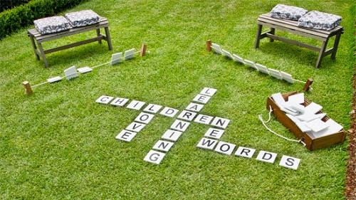 Backyard Word Game DIY Ideas