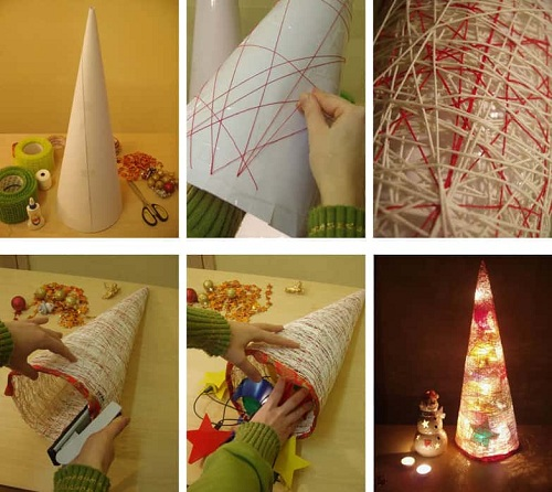 Bedroom Cone Christmas Decor DIY Ideas