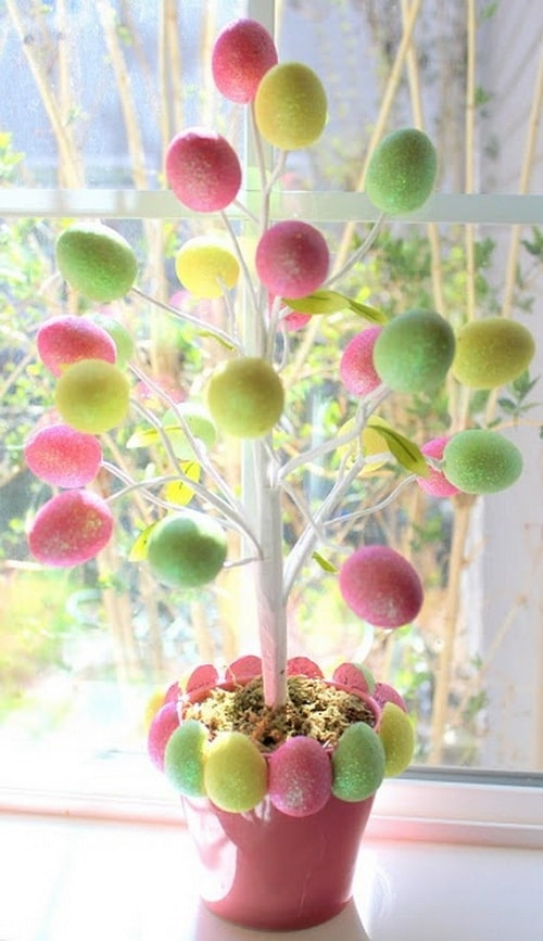 Bedroom Easter Tree DIY Ideas