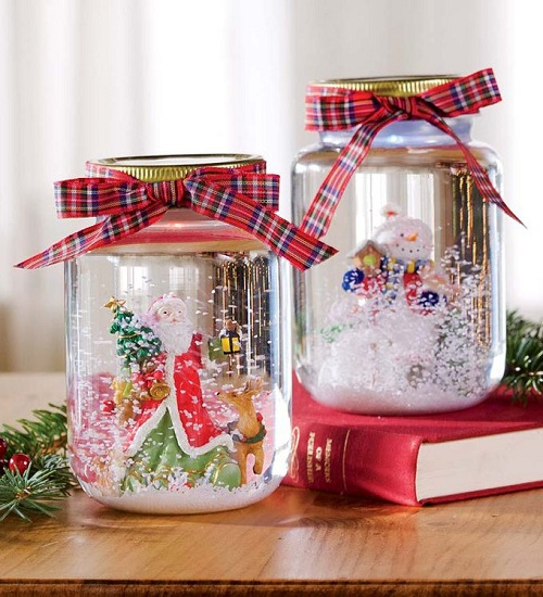 Bedroom Mason Jar Snow Globe DIY Ideas
