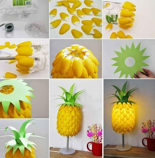 Bedroom Pineapple Lampshade DIY Ideas