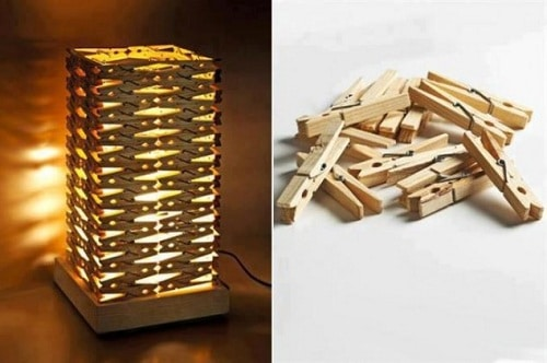 Bedroom Wooden Clip Lampshade DIY Ideas