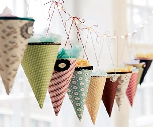 Birthday Cone Decors DIY Ideas