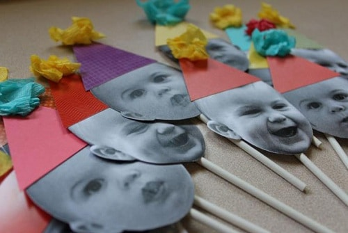 Birthday Face on Sticks DIY Ideas