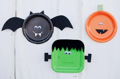 Birthday Halloween Plates DIY Ideas