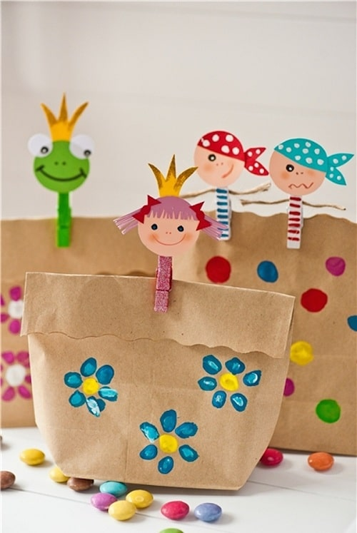 Birthday Paper Bag Giveaways DIY Ideas