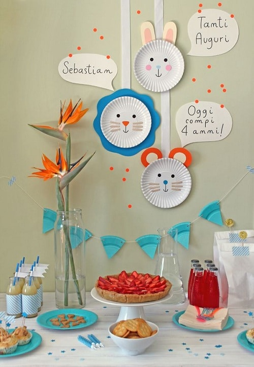 Birthday Paper Plate Faces DIY Ideas