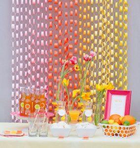 Birthday Paper Ring Curtains DIY Ideas