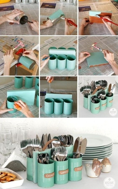 Birthday Table Utensils Organizer DIY Ideas