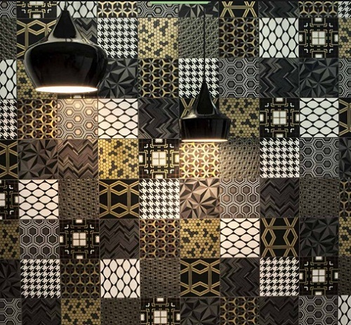 Black and Gold Patchwork