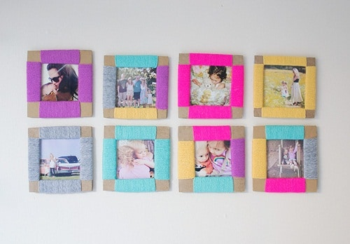 Cardboard and String Photo Frame