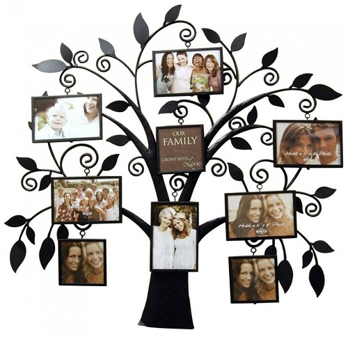 Family Tree Brass Photo Frame