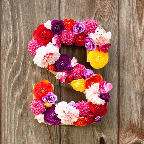 Flower Letters DIY Room Decor