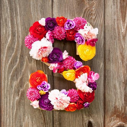 Flower Letters DIY Room Decor