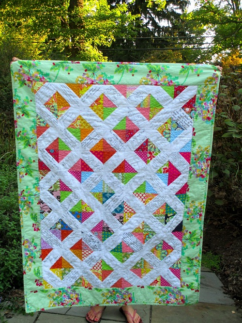 Green Diagonal Patchwork