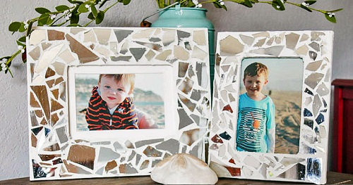 Mosaic Mirror Photo Frame