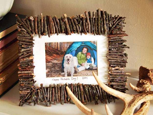 Photo Frame with Twigs
