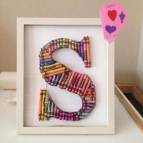 Room Crayon Letter DIY Ideas