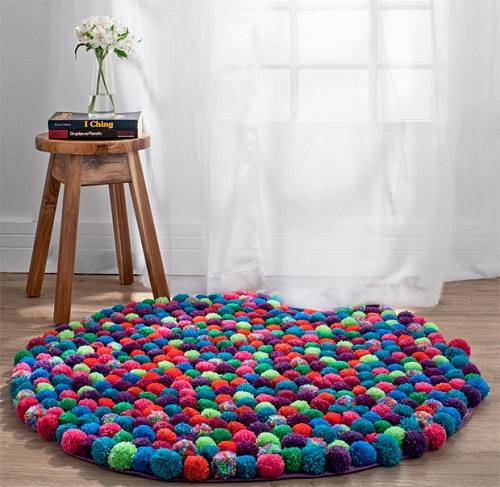 Room DIY Pompom Rug Ideas