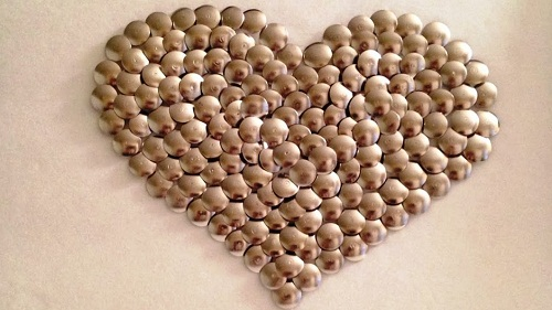 Room Heart Thumbtacks DIY Ideas