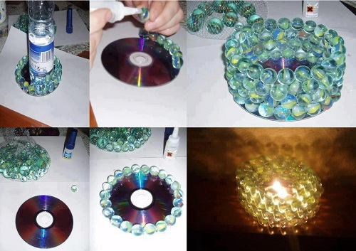 Room Marbles Candle Stand DIY Ideas