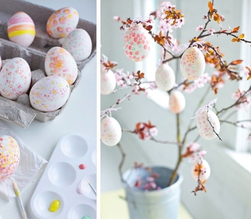 Room Painted Egg Cherry Blossom DIY Ideas