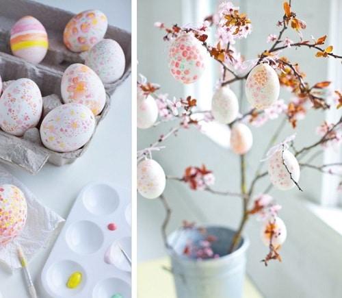 Room Painted Egg Cherry Blossom DIY Ideas