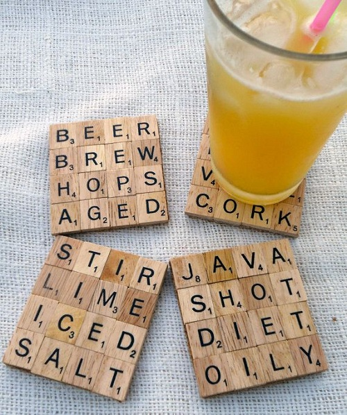 Room Scrabble Glass Coaster DIY Ideas