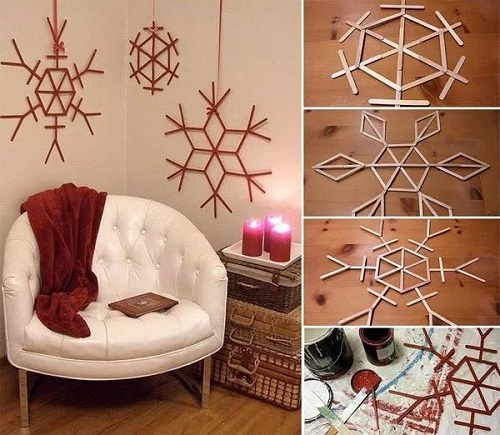Room Stick Christmas Decors DIY Ideas