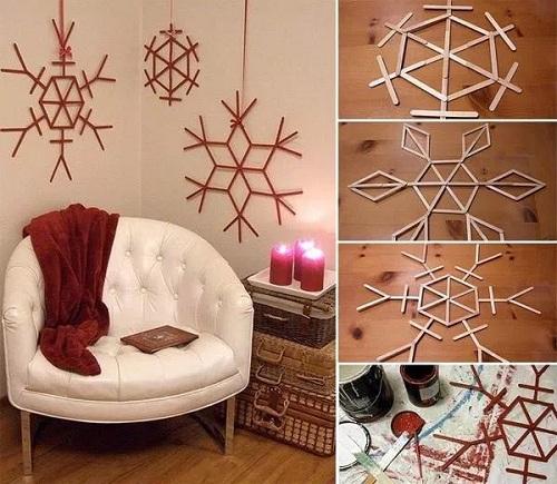 Room Stick Christmas Decors DIY Ideas