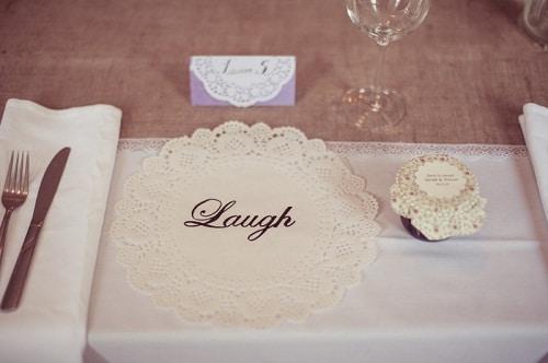 Wedding Printed Doilies DIY Ideas