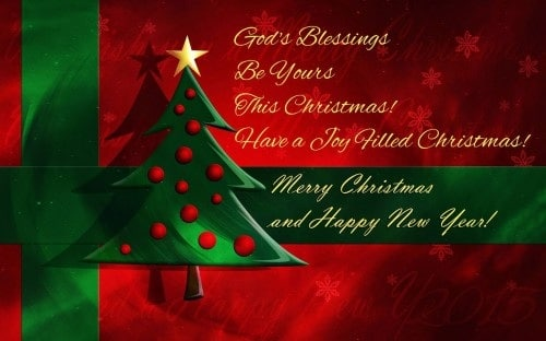 Gods blessings christmas wishes