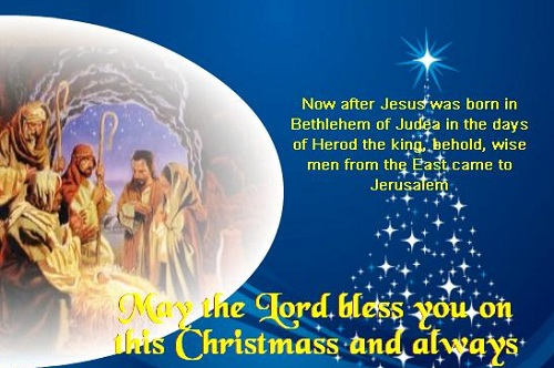 after Jesus was born Christmas wishes